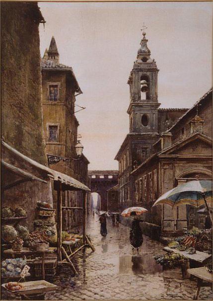 Un'immagine di Roma nei primi anni del 1800
