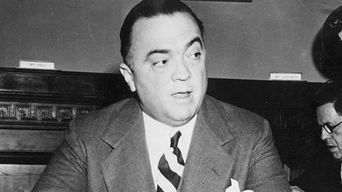 Edgar Hoover, fondatore e direttore dell'FBI