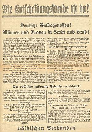 Una pubblicazione del pangermanesimo