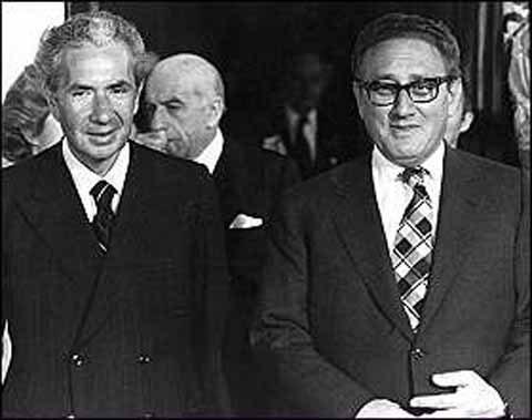 Aldo Moro con Henry Kissinger