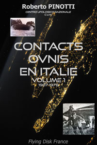 "Copertina del primo volume in francese ""Contacts OVNIS en Italie"" di Roberto Pinotti"