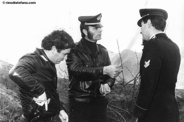 Zanfretta con il tenente Cassiba e il brigadiere dei carabinieri Antonio Nucchi